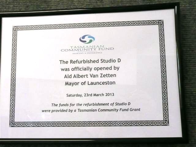 Tas Community Fund Opening Plaque