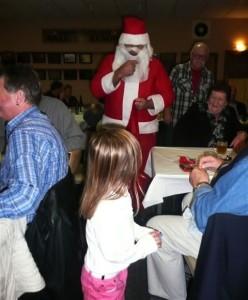 Santa disguises his voice